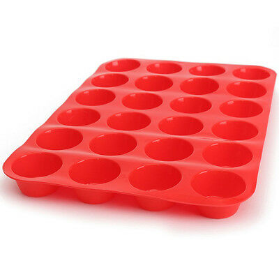 24 Cavity Silicone Cake Muffin Cupcake Chocolate Bakeware Baking Cups Mould PO