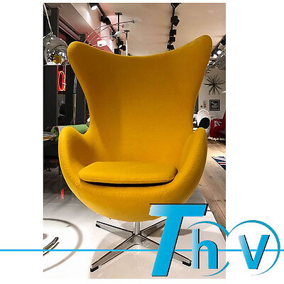 High Quality Cashmere Wool Fabric Egg Chair & Yellow Colors