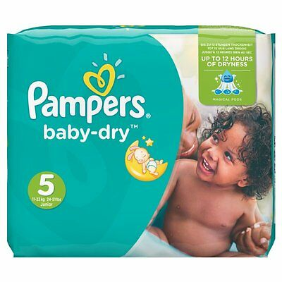Pampers - Baby Dry - 144 Couches Taille 5 (11-23 kg/Junior) - Pack 1 Moi