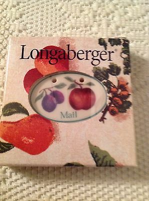 Longaberger Fruit Medley Mail Tie On-NIB