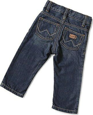 NEW ~ Boy's Wrangler All Around Kids Baby Toddler Western Blue Jeans PQ0932D 3T