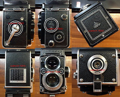 Rolleiflex 2.8F/3.5F with 12/24 side panel replacement leather cover kit T022D