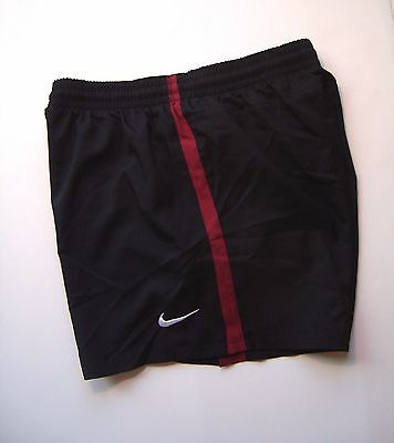 NIKE Black/Red Red Custom Classic Women's Woven Soccer Shorts #456240 Size S