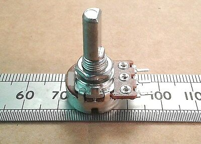 16mm Flatted D Shaft Logarithmic Track Mono Potentiometer, Audio Log Pot, Bourns
