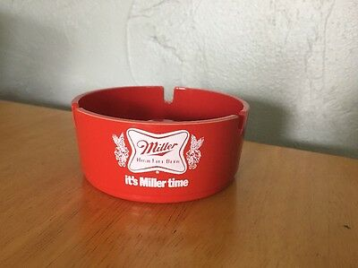 Vintage Miller High Life Ashtray Brookpark #1601 Beer Advertising Retro Ash Tray