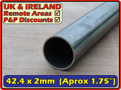 Mild Steel Round Tube (pipe, metal post, pole) | 42.4mm (>40mm) 2mm | metre ft +