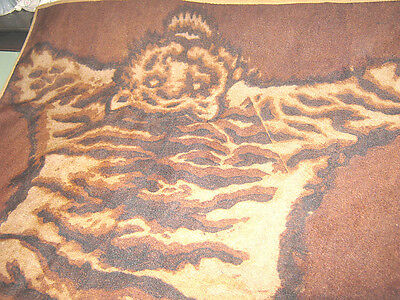 Vint Horse Hair Horseless Carriage/Sleigh/Buggy Robe/Lap Blanket/Rug Tiger Print