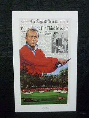 Arnold Palmer 1962 Masters Limited Edition Douglas London Lithograph #249