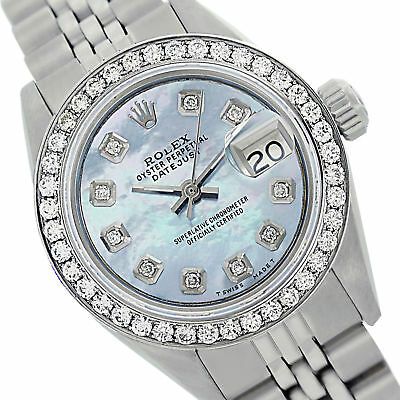 Rolex Lady Datejust Oyster Perpetual 69160 Steel 26mm MOP Diamond Dial and Bezel