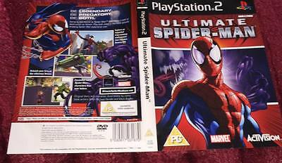 cover artwork for ULTIMATE SPIDERMAN ps2  NO GAME DISC INCLUDED