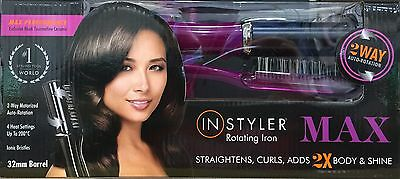 InStyler Max 2-Way Rotating Purple Hair Iron 32mm - Straightens/Curls GREAT GIFT