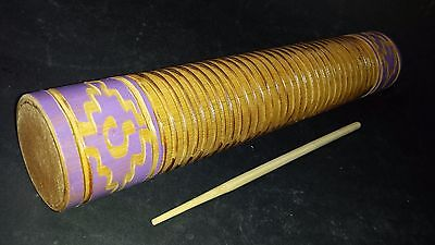 Mexican Bamboo Guiro Ethnic Latin Art Craft Musical Percussion Instrument Shaker