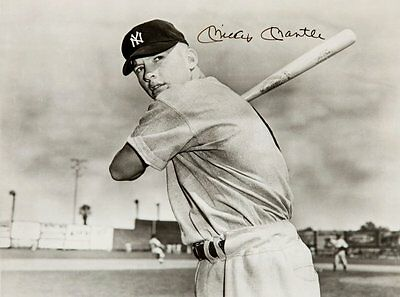 MICKEY MANTLE - Repro-Autogramm, 20x26 cm, New York Yankees, signed repro