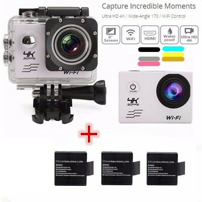 Waterproof SJ8000 4K 1080P WiFi 2.0'' 170° Sports Action Camera With Sony Sensor