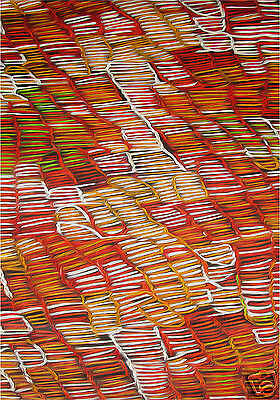 200cm  LARGE oil painting canvas aboriginal art  great colours jane crawford