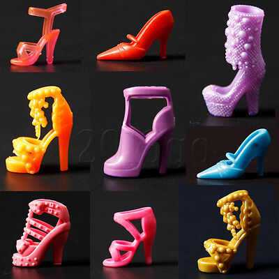 20pcs 10 Pair Mixed High Heel Shoes For 29cm Doll Clothes Accessories 2O