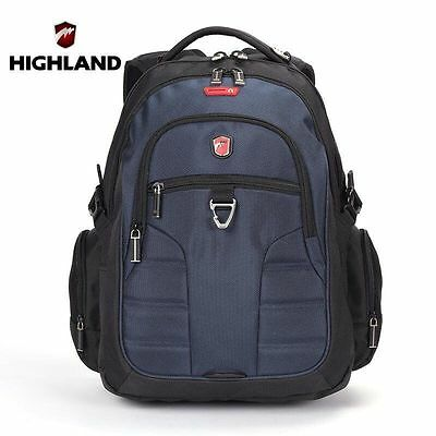 HIGHLAND Travel Laptop Backpack School Camping Outdoor Rucksack Shoulder Bag New