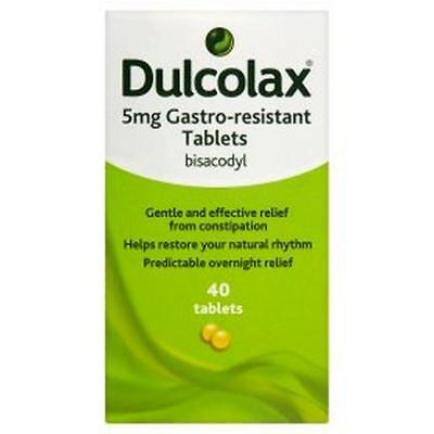 Dulcolax Constipation Relief Laxative Tablets 5mg - 40 Tablets**Free Delivery**
