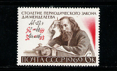 RUSIA/URSS RUSSIA/USSR1969 MNH SC.3607 Periodic Law,Mendeleev