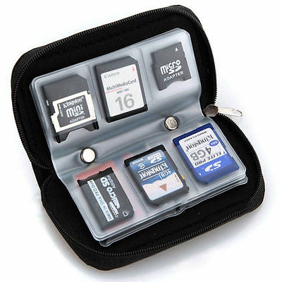 Favorite Practical Sd Sdhc Mmc Cf Micro Sd Memory Card Storage Pouch Case Holder
