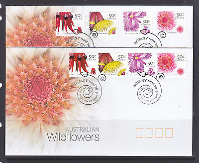 FDCs: 2005 WILDFLOWERS  BOTH SHEET AND P/S SETS