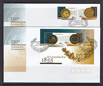 FDCs: 2005 COINS SET AND M/S
