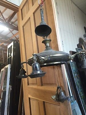 Lc 4Antique Brass Pan Chandelier 4 Arm