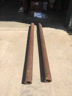 One Pair Antique Fluted Collumns 77 Inches High 5 Inch Base