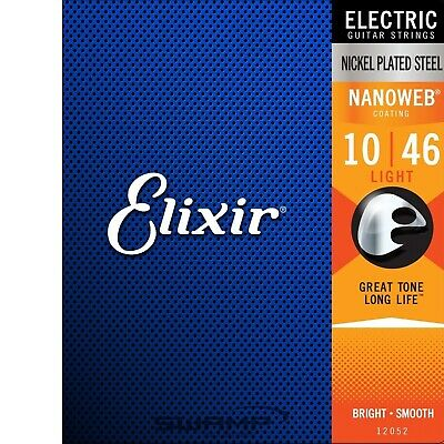 Elixir Nanoweb Light Gauge Electric Guitar Strings - 10-46