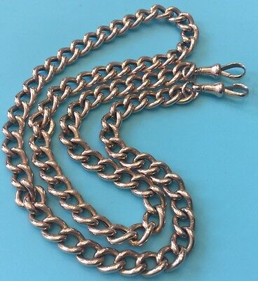 Vintage 9ct Gold Watch Albert Fob Chain Necklace 550mm Long