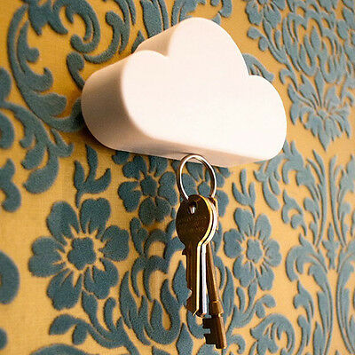 Creative Home Storage Holder White Cloud Shape Magnetic Magnets Key Holder Tool