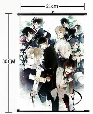 HOT Anime DIABOLIK LOVERS Wall Poster Scroll Home Decor Cosplay 1488