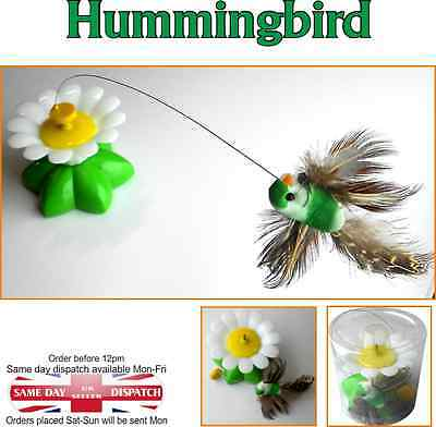 Bird Toy Electric Rotating Hummingbird Steel Wire Teaser Pet Toy