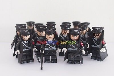 New WWII German Minifigures Hitler with 3 General Soldiers Custom Brand