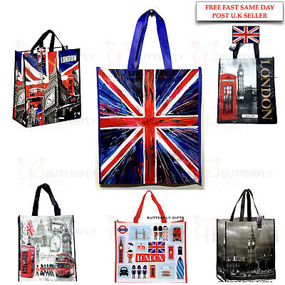London Eye Big Ben Bag Red Phone Bag Reusable Shopping Xmas Gift Bags SOUVENIR