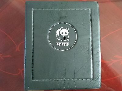 WWF Stamp, first day cover album binder with slip cover stamp collecting
