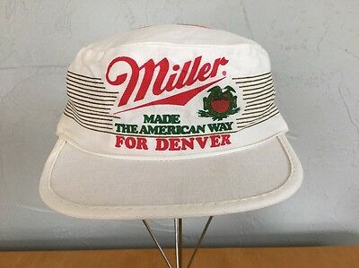 Vintage Miller Beer Painters Cap Hat Made The American Way For Denver