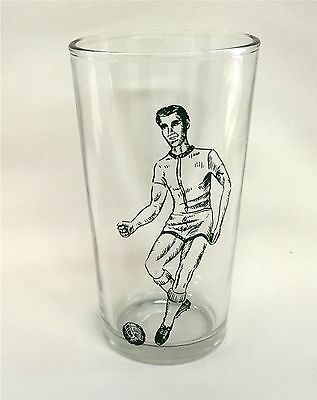 1960's YORK PEANUT BUTTER GLASS SOCCER PLAYER  MINT CONDITION