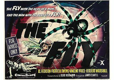 The Fly - Vincent Price - A4 Laminated Mini Poster