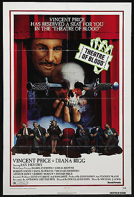 Theatre of Blood - Vincent Price - A4 Laminated Mini Poster