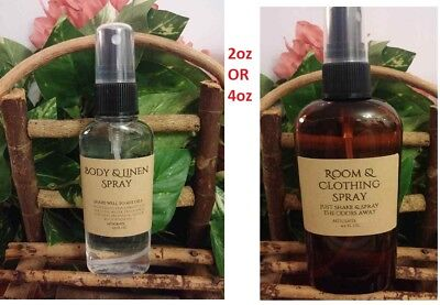 CUSTOM ROOM & BODY SPRAYS 2oz OR 4.5oz OVER 150+SCENTS HANDCRAFTED JUST FOR YOU