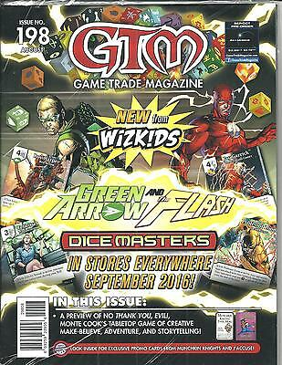 Game Trade Magazine # 198 (Green Arrow Flash Dice Masters, Aug 2016), NM NEW
