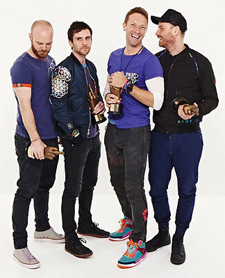 Coldplay UNSIGNED photo - D494 - Chris Martin, Guy Berryman & Jonny Buckland