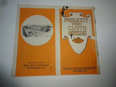 1915 era The Troy Carriage Sun Shade Co Toronto Catalog & Price List