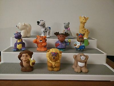 Fisher Price Modern Chunky Little People Circus Set Animals LOT 11 Lion Tiger