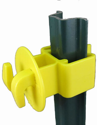 DARE PRODUCTS INC Electric Fence U-Post Insulator, Light Duty, Yellow, 25-Pk.