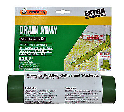 THERMWELL PRODUCTS - Manual Downspout Extender, Green, 8-Ft.  x 7-In.