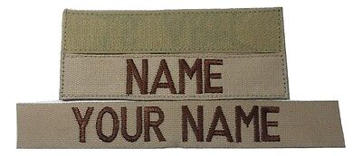Desert Tan Custom Name Tape, Fastener, Sew-On, US ARMY MARINES Military Tape