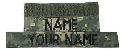 ACU Custom Name Tape, with Fastener, Sew-On - US Army Military Tape