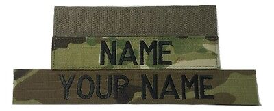 Multicam OCP Custom Name Tape, with Fastener, Sew-On - US Army Military Tape